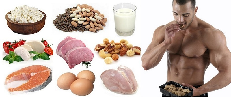 optimal Protein intake items-chicken, fish, meat, milk, soya, fibres