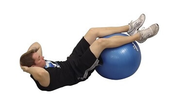 ab workout-crunch with balls