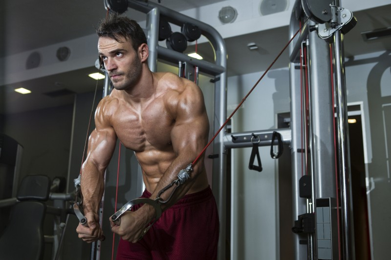 arm workout using Cables