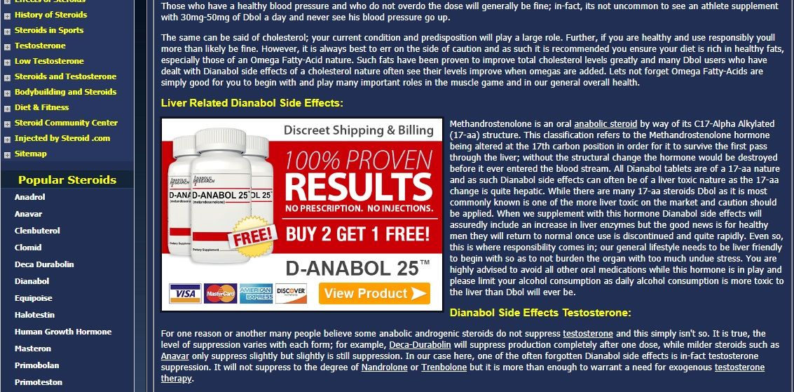 detailed information on liver disease on steroid.com
