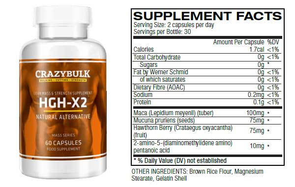 Crazy Bulk HGH X2 Ingredients