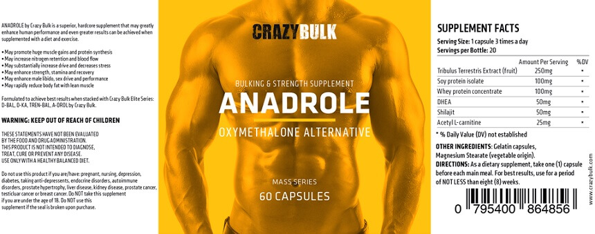 Crazy Bulk Anadrole Ingredients
