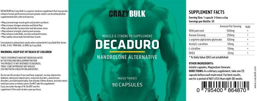 Crazy Bulk Decaduro Ingredients