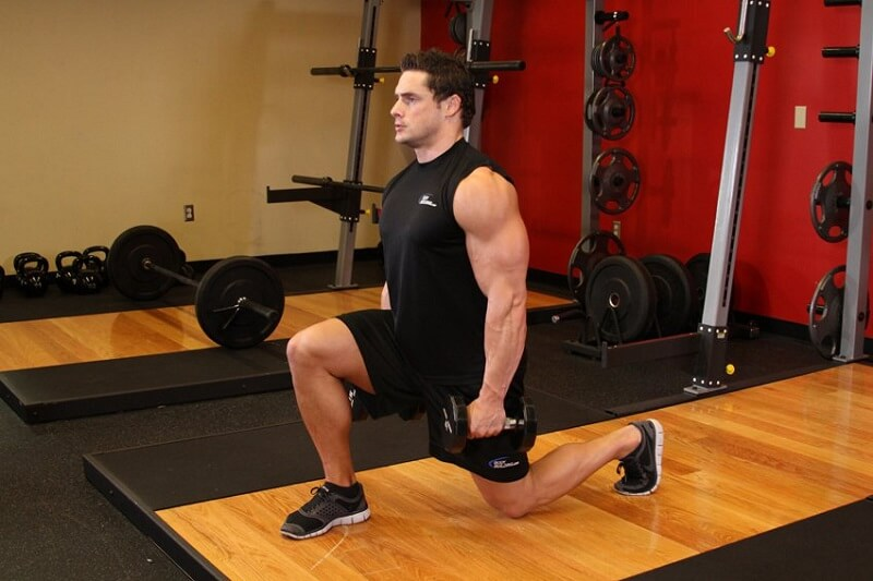 Leg Workout 2- Walking Dumbbell Lunges