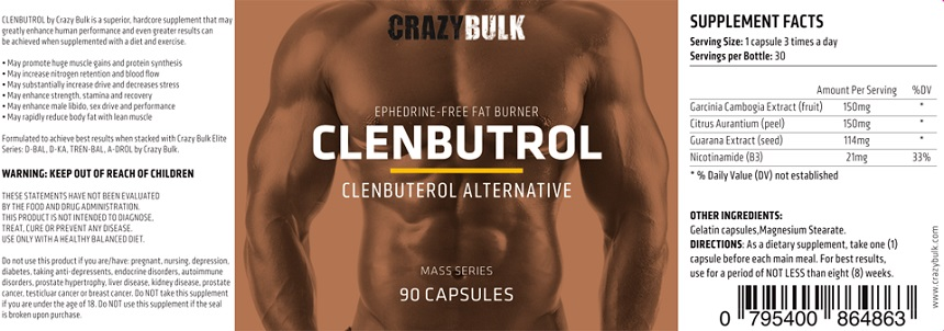 Crazy Bulk Clenbutrol Ingredients