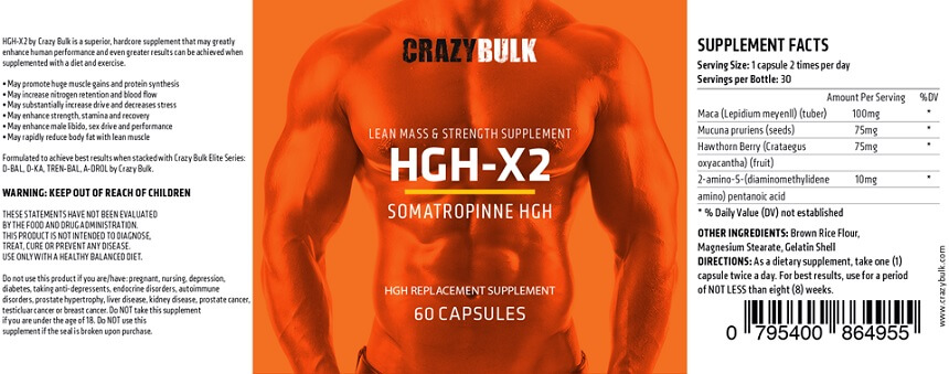 Crazy Bulk HGH-X2 Ingredients