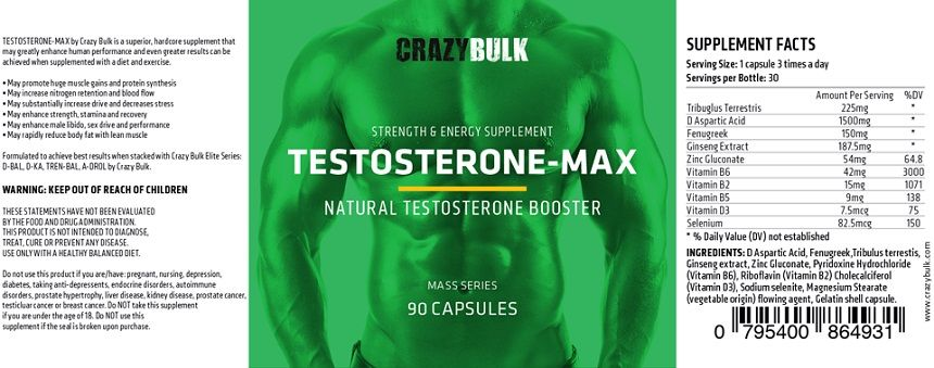 Crazy Bulk Testo-Max Ingredients