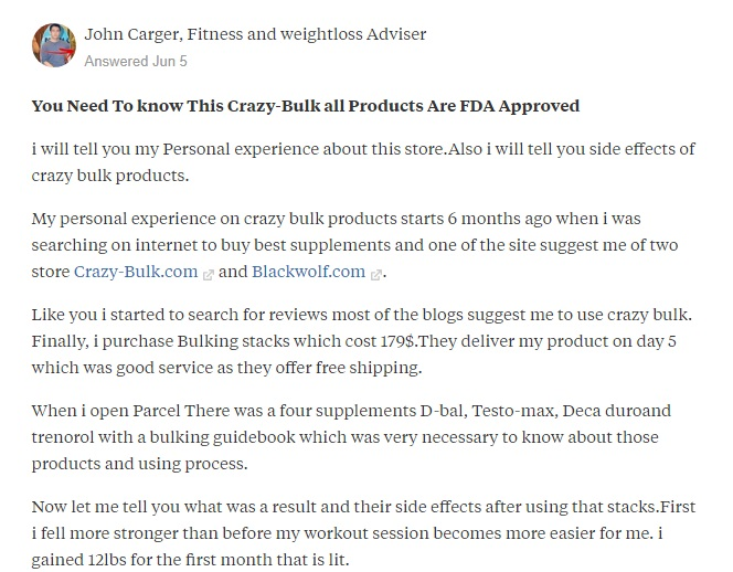 answer from John carger on quora