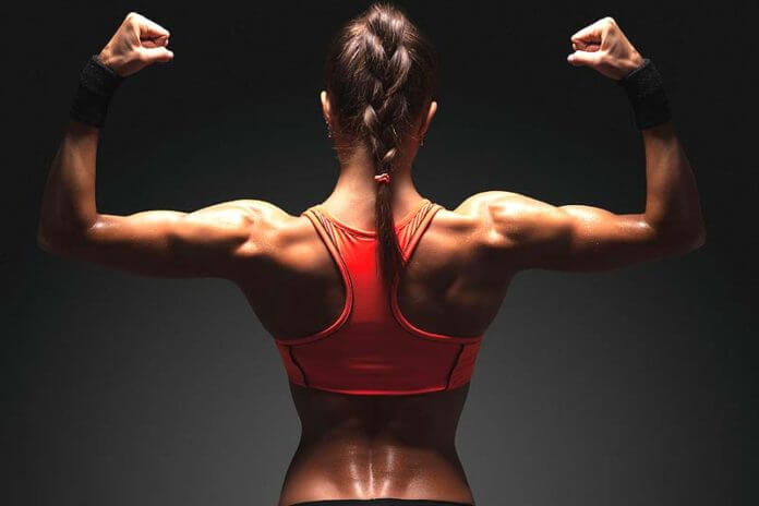 building muscles in female