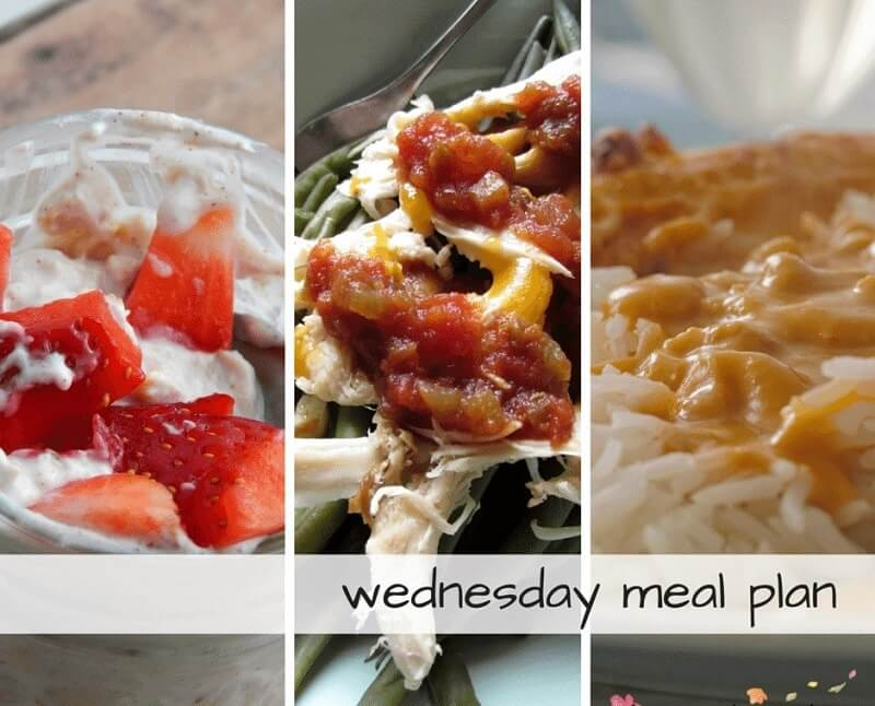 Wednesday meal plan