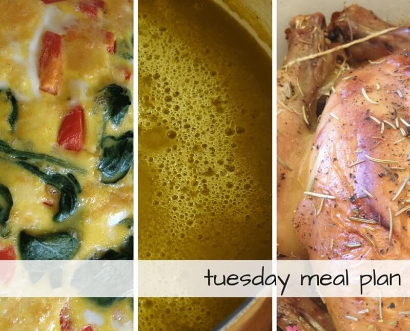 Tuesday meal plan