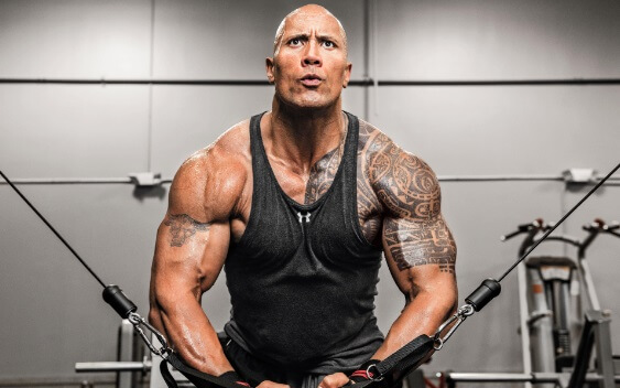 Dwayne-Johnson in gym