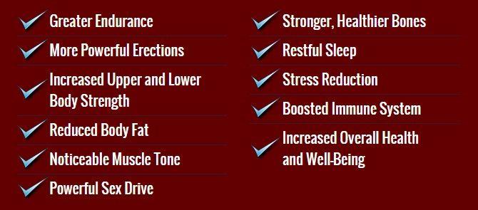 list of benefits - test rx
