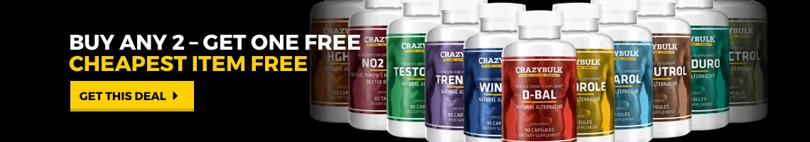 crazy bulk - buy 2 get 1 free