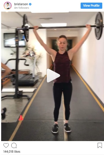 Brie Larson lunge game down