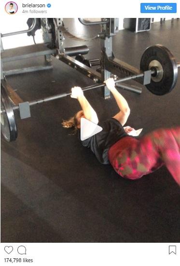 brie larson ab workout