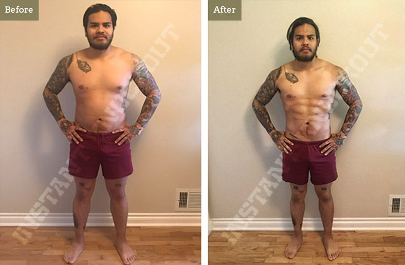 Instant Knockout Fat Burner Before and After