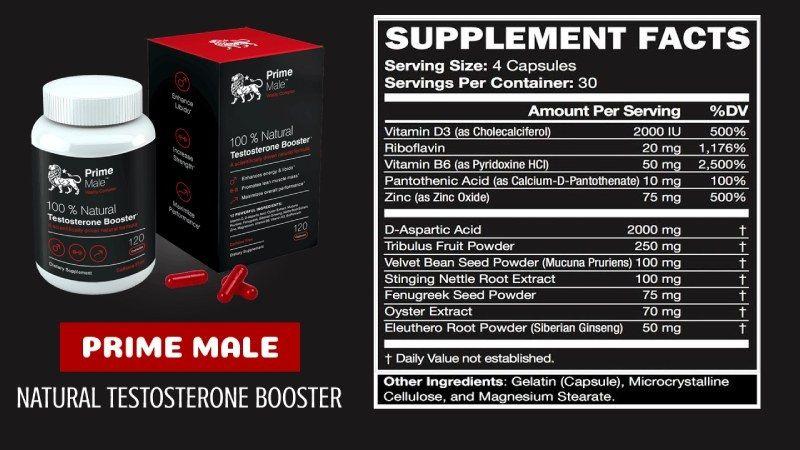 Ingredients List Of Prime Male