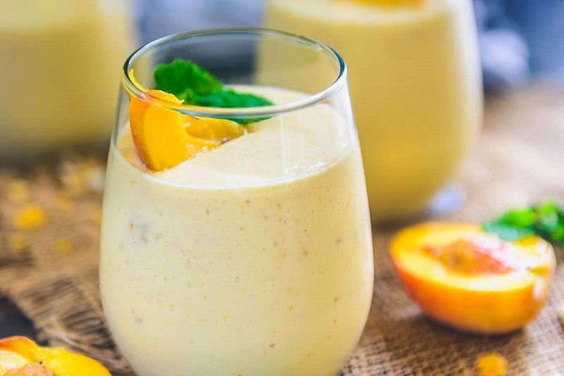 Peachy smoothies for bodybuilding