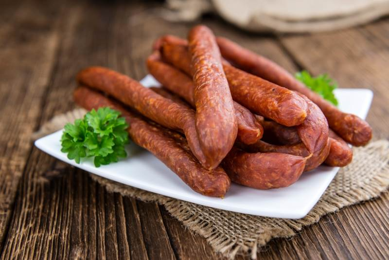 Sausages worst food for bodybuilding